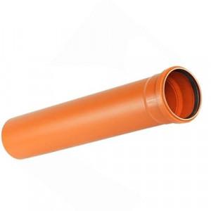 Труба ПВХ ДУ 110х3,4х1000 (рыжая)