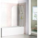 Шторка для ванны Bas SCREEN HS-100-C-CH (1ств.распашная+неподвижная часть с полочками,стекло 6 мм)