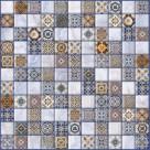 Керамогранит Орнелла синий арт-мозаика (5032-0200) 30х30